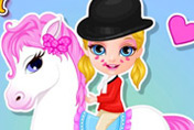 game Baby Barbie Pony Present
