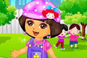 game Baby Dora Kindergarten Dress Up