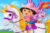game Baby Dora On The Unicorn King
