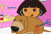 game Baby Dora Save the dog
