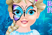 game Baby Elsa Butterfly Face Art