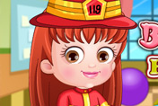 game Baby Hazel Firefighter Dressup