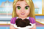 game Baby Rapunzel cooking Cake Balls