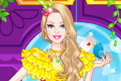 game Barbie Animal Prints Dress Up