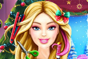 game Barbie Christmas Real Haircuts