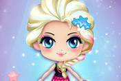 game Chibi Elsa's Modern Makeover