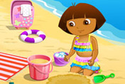game Dora At Beach