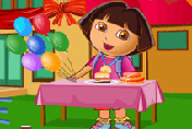 game Dora Birthday Bash Cleaning