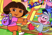 game Dora Shadow Puzzle