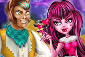 game Draculaura and Clawd Valentines Day Kissing