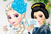 game Elsa Around The World Dress Up