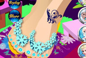 game Elsa Fancy Pedicure
