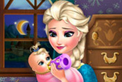 game Elsa Frozen Baby Feeding