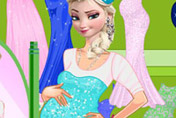 game Elsa Pregnant Shopping
