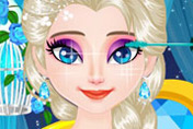 game Elsa Sparkling Eyelashes
