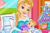 game Frozen Elsa Gives Birth