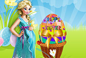 game Pregnant Elsa Easter Egg
