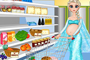 game Pregnant Elsa Food Shopping