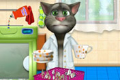 game Talking Tom Washing Dishes
